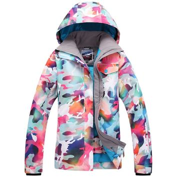 2016 Women DOWN Winter Ski and Snowboard jacket skiing jacket Ski jacket Snowboard jacket Ski outwear FREE GIFT one hat 1507