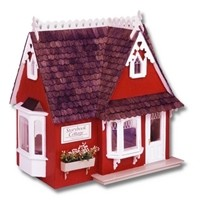 The All Wood Storybook Cottage Dollhouse Kit by Greenleaf Dollhouse