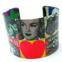 Vintage Ad Comic Book Print Cuff Bangle Bracelet: Jewelry: Amazon.com