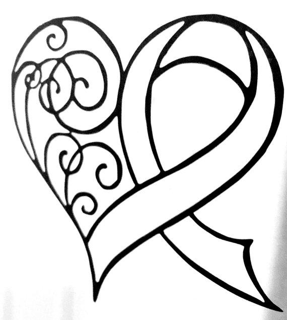 Cancer Ribbon Tattoo Outline Www Imgkid Com The Image