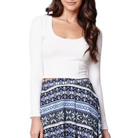 LA Hearts Sweater Skater Skirt - Womens Skirt - Blue