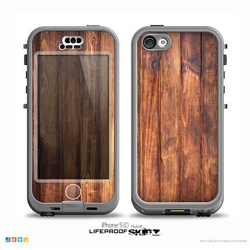 The Bright Stained Wooden Planks Skin for the iPhone 5c nüüd LifeProof Case
