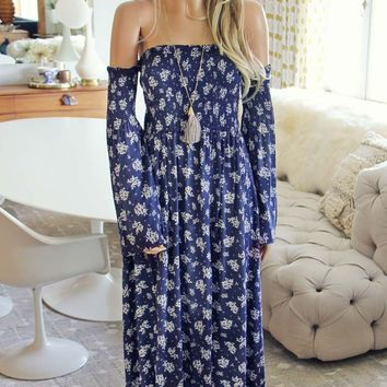 Sophie Maxi Dress in Blue