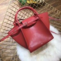 Céline Women Leather Shoulder Bag Satchel Tote Bag Handbag Shopping Leather Tote Crossbody Satchel Shouder Bag