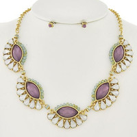 Purple Opal Necklace Set