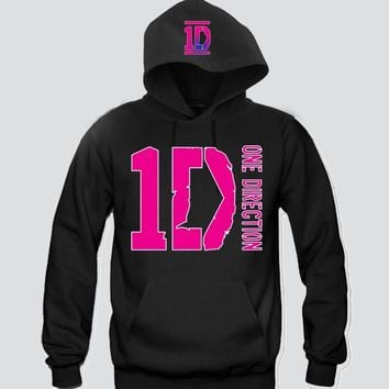"1D Pink ""2Prints"" Unisex Hooded Sweatshirt Funny and Music"