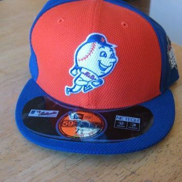 New Era New York Mets 59fifty World Series Baseball Hat Cap 7 3/8 5950 Mr Met