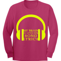 My Brain Is Up To 90% Song Lyrics With Headphones Vector