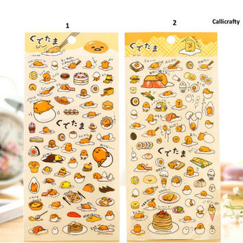 Gudetama Lazy Egg Cartoon Stickers, Label Sticker, Stationery Sticker, Scrapbooking Sticker, Planner Stickers, Decorative Stickers - STK033