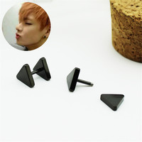 Youpop KPOP BTS Bangtan Boys Album Double Triangle Stud Earrings Korean Jewelry Accessories For Men And Women Earring FR717