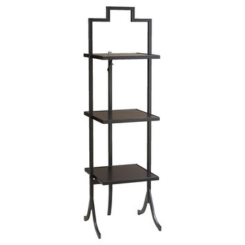 French Heritage, Tamsin Folding Table, Black, Small, Standard Side Tables
