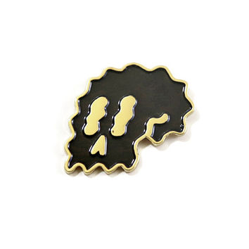 Black Wavy Skull Lapel Pin (Limited Edition)