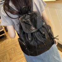 Cute Leather Large Backpack Daypack Travel Bag Motorcycle Bag