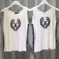 '' CHANEL '' Women Embroidery Vest Top