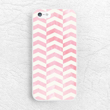 Pink Watercolor chevron pattern phone case for iPhone 6, Sony z1 z2 z3 compact, LG g3 g4 nexus 5, HTC one M9, Moto x Moto g, Samsung S6 -P48