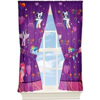 My Little Pony Window Drapes Curtains Panels, Purple and Pink