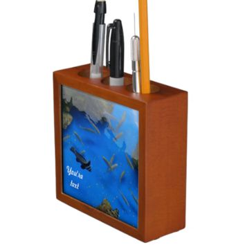 Under water world fishes in the ocean desk organizers