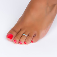 Sterling Silver Toe Ring / Turquoise Toe Ring /Toe Ring / Foot Jewelry / Body Jewelry / CZ Ring /  Beach Jewelry / Silver Toe ring   Theres