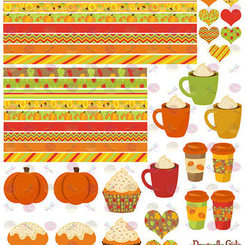 50% OFF Sale! DIY October Fall Harvest Printable Planner 48 Sticker Sheet 4 of Kit  in PDF and jpeg Erin Condren Life Planner Kikkik Filofax