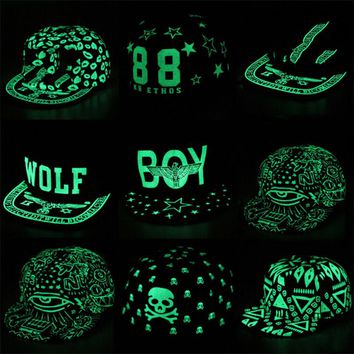 Fluorescent Graffiti Hip Hop Snapback Caps