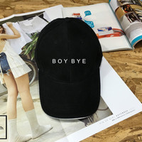BOY BYE hat - Baseball hat , Tumblr hat , Dad Hat Dad Cap Baseball Hat Baseball Cap , Low-Profile Baseball Cap Hat
