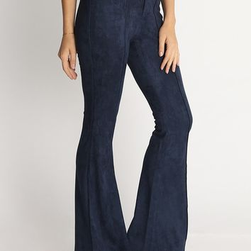 Lindsey Faux Suede Bell Bottoms | Ruche