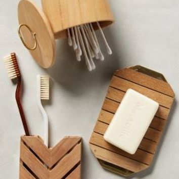 Teak Bath Collection by Anthropologie Neutral