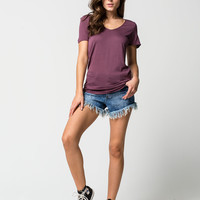OTHERS FOLLOW Womens Frayed Denim Shorts | Shorts