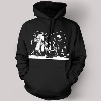Wu Tang Clan Screen Printed Hoodie - RZA GZA Old Dirty Bastard Method Man Redman