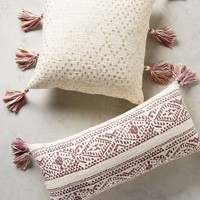 Tasseled Pointilliste Pillow by Anthropologie