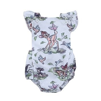 Baby Boy Girl Animal Print Clothes Newborn Romper Jumpsuit Clothes 0-24M Outfits