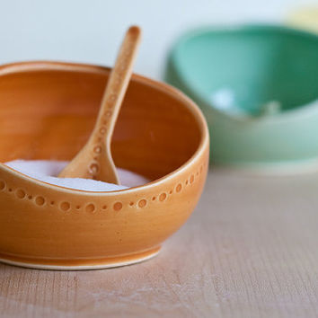 Salt Cellar and Spoon color options MADE TO by vesselsandwares
