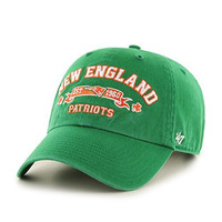 NFL New England Patriots Relaxed Fit Retro St. Patty's Embroidered Cap by '47