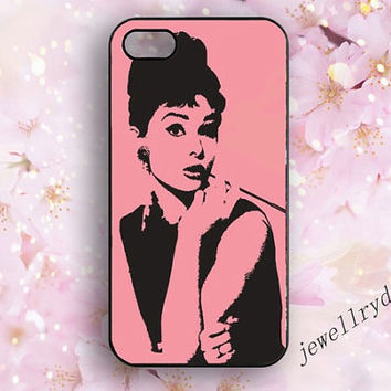 Audrey hepburn iPhone 4/4s case,iPhone 5/5s cover,iPhone 5c case,Audrey Hepburn Samsung Galaxy S3/S4/S5 case,Fashion sexy Audrey Hepburn