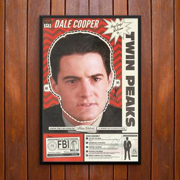 Twin Peaks, Agent Dale Cooper Mask Poster or Framed Print