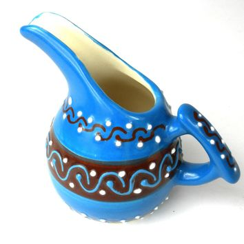 Mini Creamer - Azure Blue Mexican Pottery