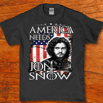 America needs Jon snow funny Men's t-shirt for Adults