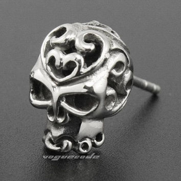 316L Stainless Steel Skull Mens Stud earrings