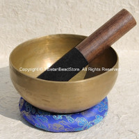Tibetan Hand-hammered 7-Metals 6 Inches Singing Bowl - Item # SB28