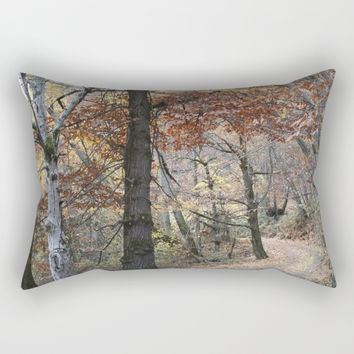 Into the fall woods. Yesterday Rectangular Pillow by Guido Montañés