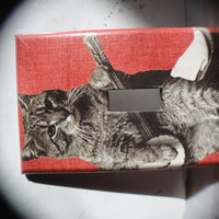 CAT PLAYING BANJO Lightswitch Cover by kitschecoo on Etsy