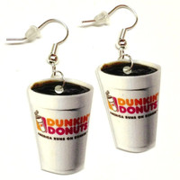 Dunkin Donut Coffee Earrings