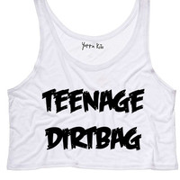 Teenage Dirtbag Crop Tank Top