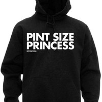 Women's Pint Size Princess Hoodie - Black