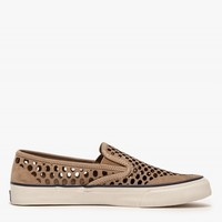 Sperry CVO Laser Perf Slip On in Taupe