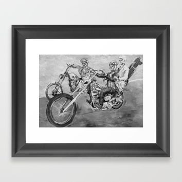 Easy rider black and white Framed Art Print by Tony Silveira