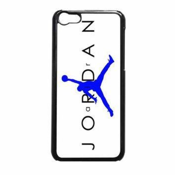 CREYUG7 Jordan Blue Logo White Background iPhone 5c Case