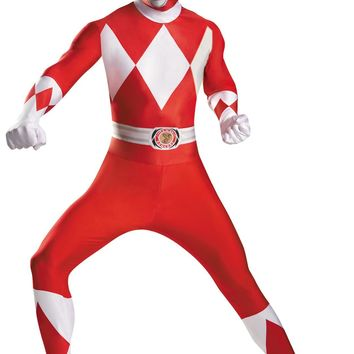 Red Power Ranger Bodysuit Adult Costume