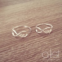 Big Little Infinity Ring Set |A-List Greek Designs