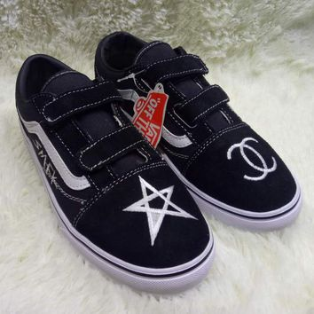 Vans x Chanel Girls Boys Children Baby Toddler Kids Child Breathable Sneakers Sport Shoes
